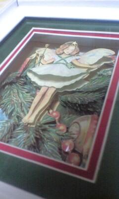 シャドウボックス6作品目完成☆【クリスマスフェアリー】☆20091207