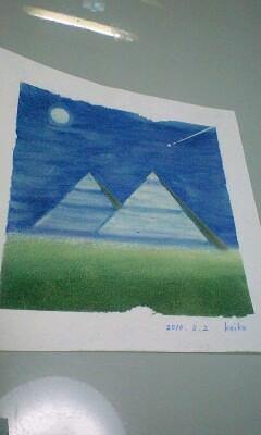 パステル和アート3枚☆20100302