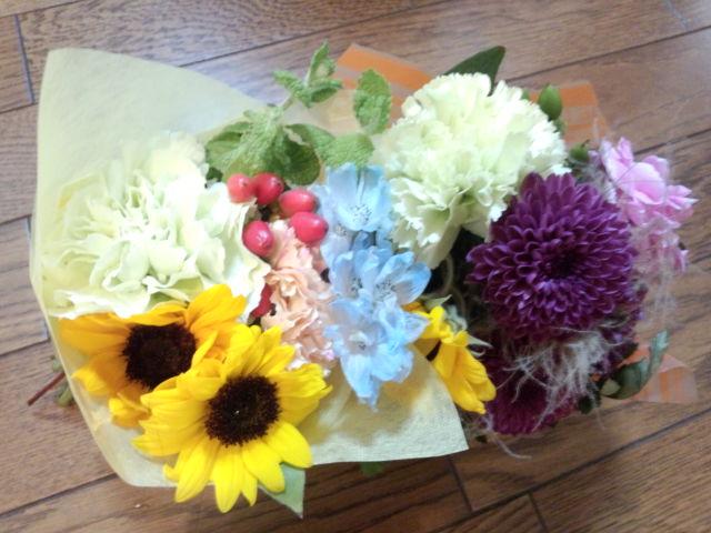 今日我が家にやって来たお花達☆